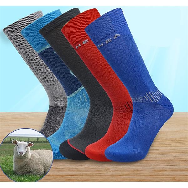 Custom Woven 85% Merino Wool Socks