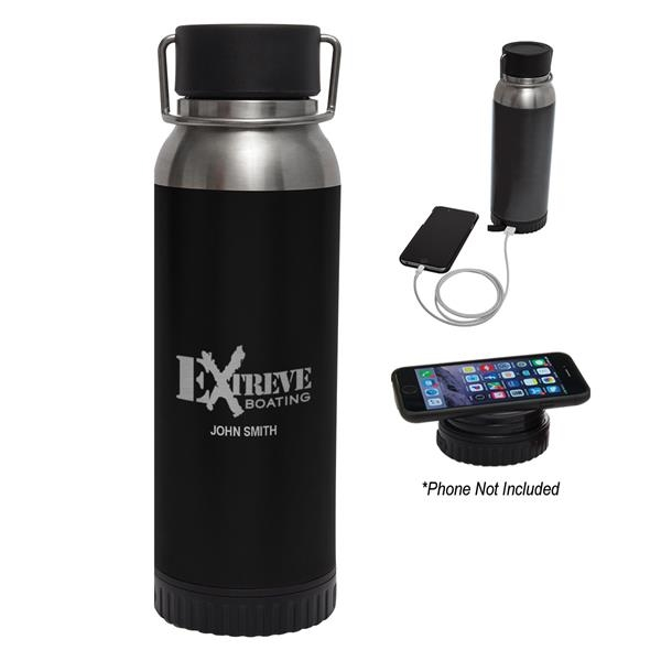 22 Oz. Carter Stainless Steel Bottle With Wireless Charge...