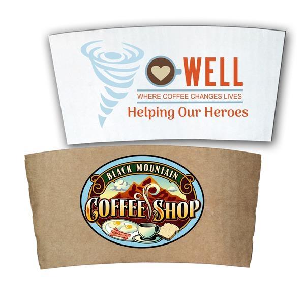 Paper Coffee Sleeve, Full Color Digital