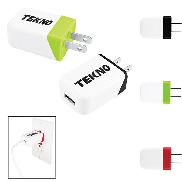 Two Tone USB to AC Adapter - UL Certifie
