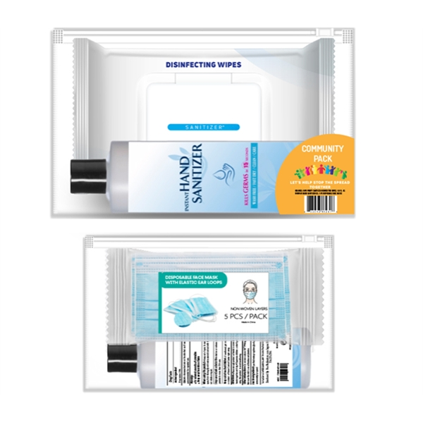 Disposable Mask and Sanitizer PPE Kit