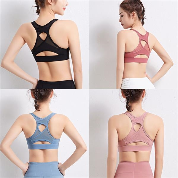 Mesh Stitching Bra Breathable Gather Fitness Vest
