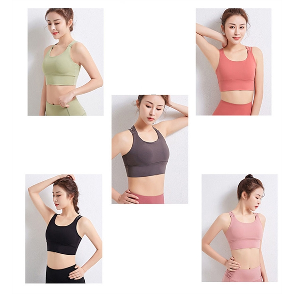 Beautiful Back Breathable Gather Sports Bra