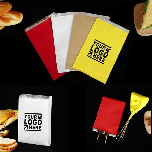 Oilproof Kraft Paper Bread Bag Takeout Grocery Bag Lunch Bag