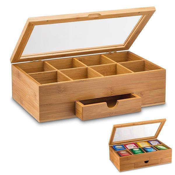 Natural Bamboo Tea Storage Box