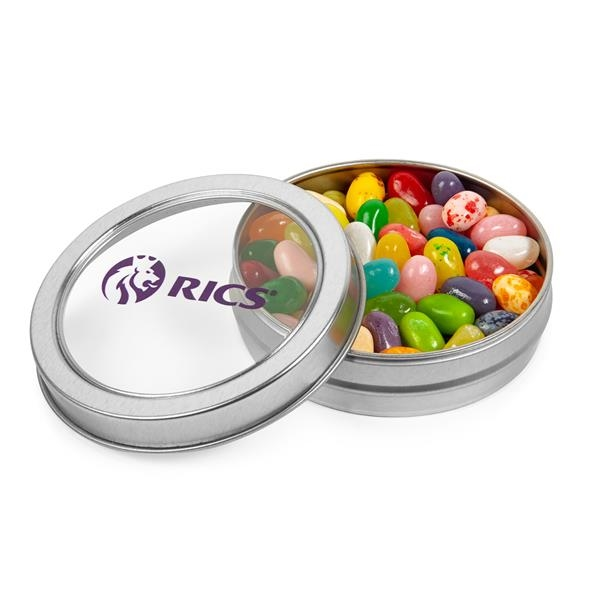 Top View Tins With Jelly Belly® Jelly Beans