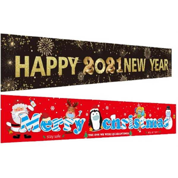 Large New Year Christmas Full Color Banner - 118' x 20'