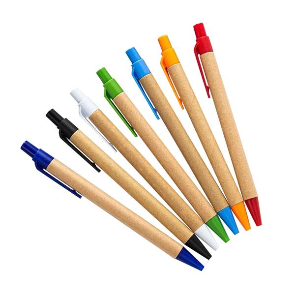 Paper Pen with Plastic Clip