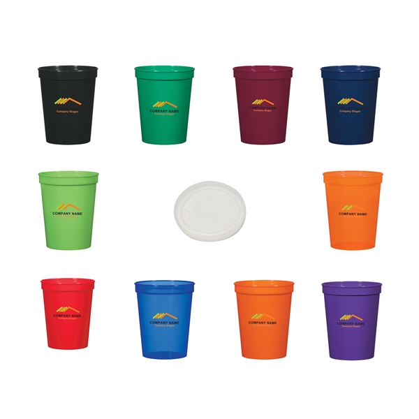 16 Ounce Colorful Sturdy Plastic Beverage Cup