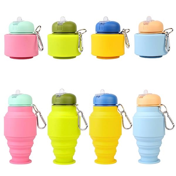 17 OZ Collapsible Telescopic Water Bottle For Kid