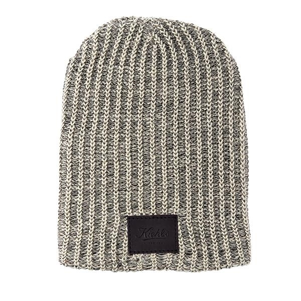 HABERDASHER 100% Cotton Knit Beanie with Leather Patch
