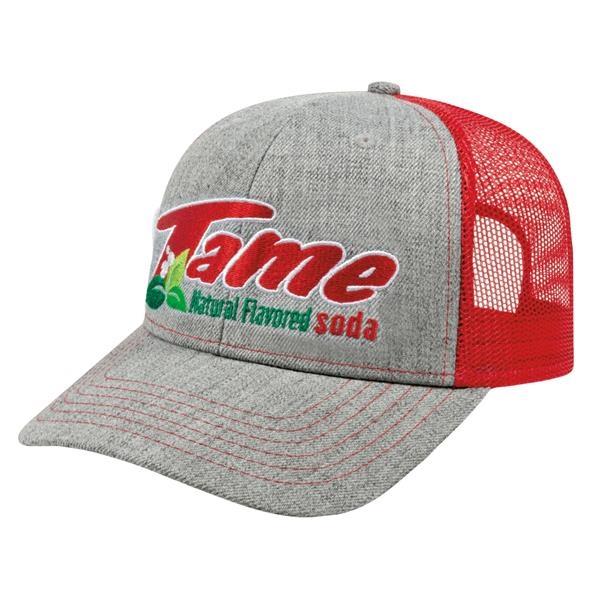 Promotional Modified Flat Bill w/ Mesh Back Custom Cap