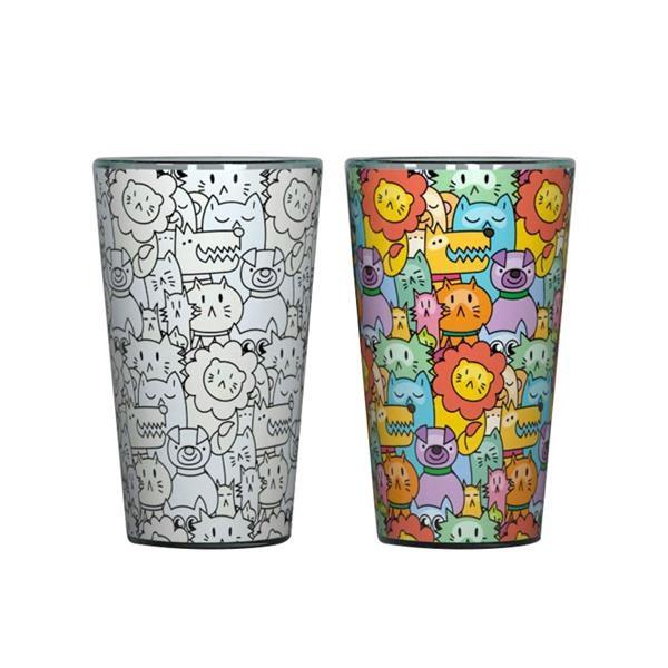 16oz Glass Coffee Tea Magic Cup