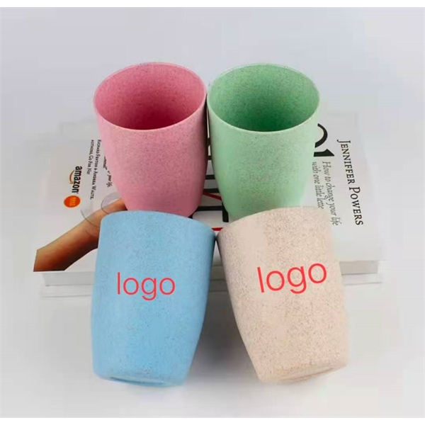Recycled plastic toothbrush cup with customized logo