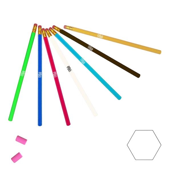 7.5inch Long Hexagonal 2 HB Pencil with Eraser
