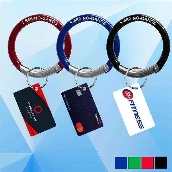PPE Round Shaped Carabiner w/ Card Key Chain