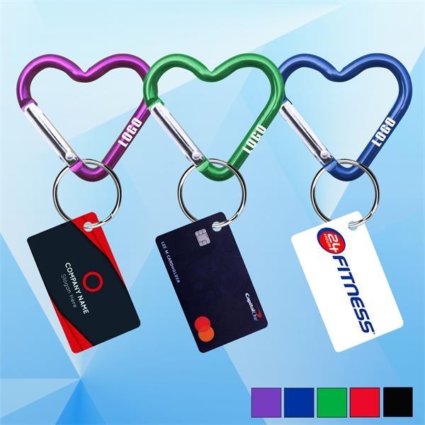 PPE Heart Shaped Carabiner w/ Mini Card Key Chain