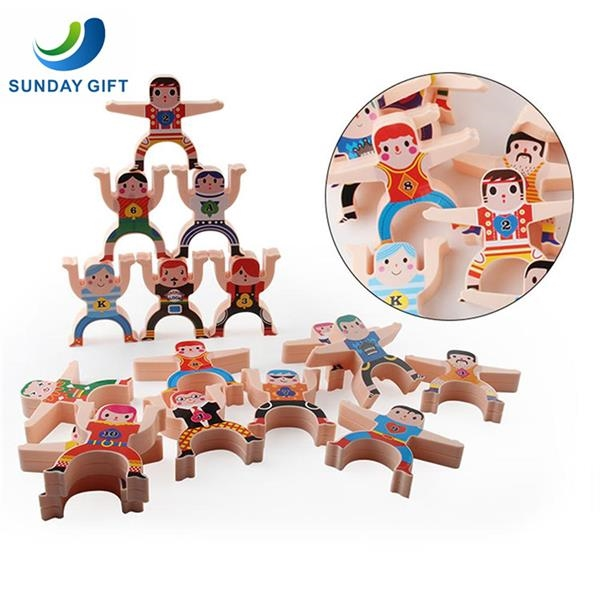 16 Pieces Hercules Balancing Blocks Stacking Toys Games