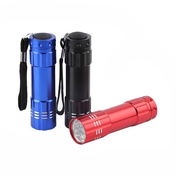 9 LED Rocket Aluminum Flashlight