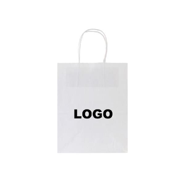 "White Kraft Shopping Bag (8""x4.75""x10.25"")"