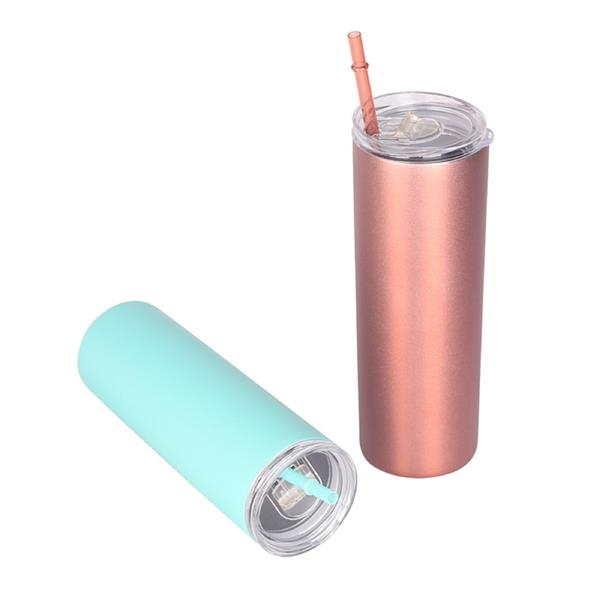 20 oz Vacuum Stainless Steel Tumbler with Straw & Lid