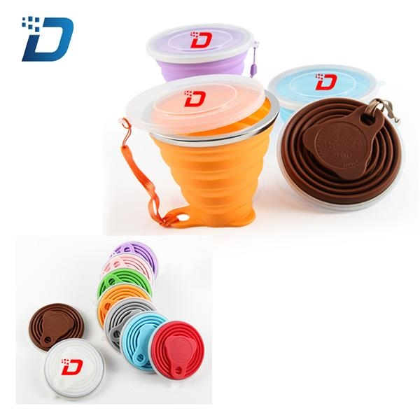 9Oz Silicone Folding Travel Cup