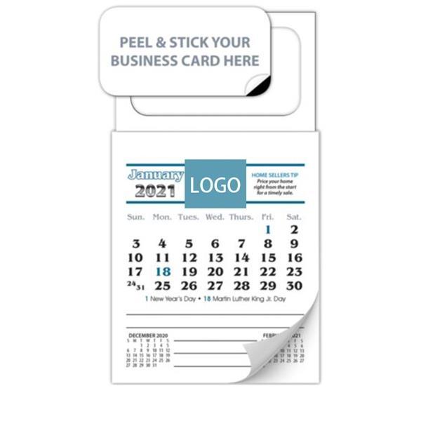 Rectangle Calendar Pad Sticker with Tear Away Calendar