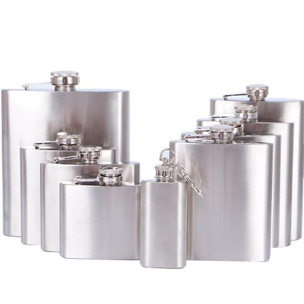 Stainless Steel Square flat Hip Flask