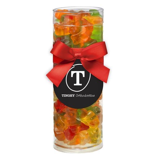 Small Elegant Gift Tube with Gummy Bears