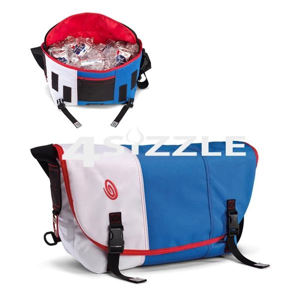 Load up this messenger cooler bag with some drinks
