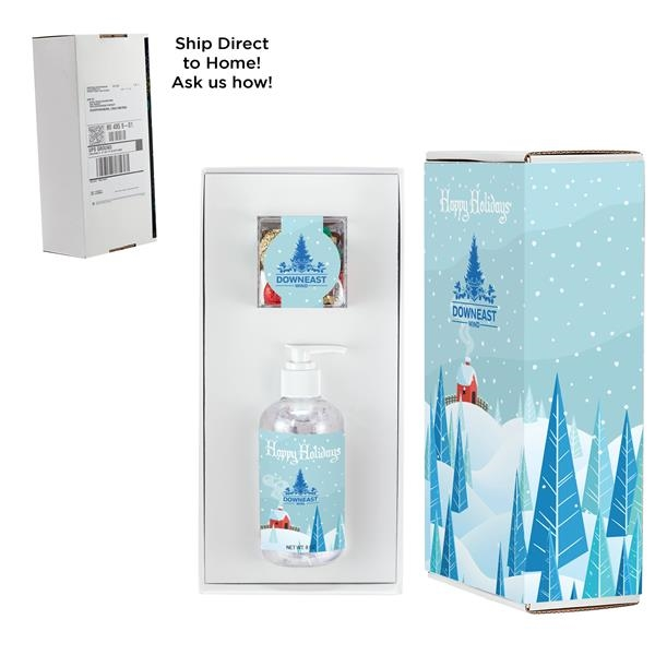 8 oz. Sanitizer & Holiday Mix Cube in Mailer Box