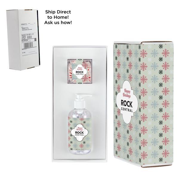 8 oz. Sanitizer & Starlight Mints Cube in Mailer Box