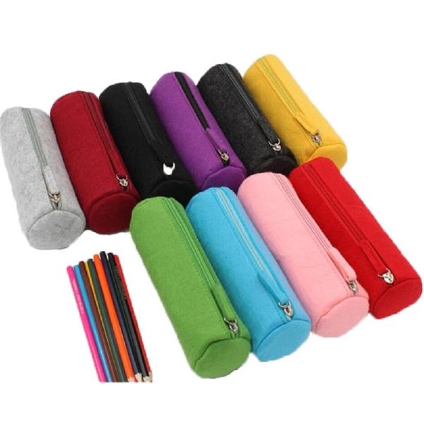 Felt Pen Case, Felt Stationery Storage Bag