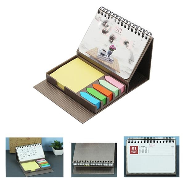 Desk Calendar With Notes And Flags