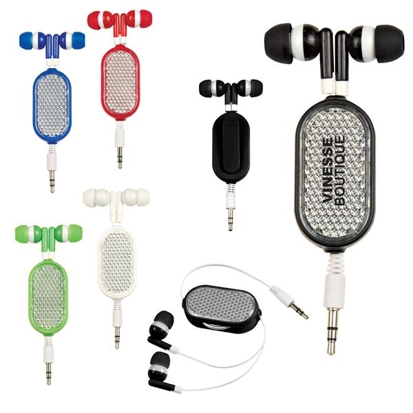 Stereo Quality Retractable Earbuds