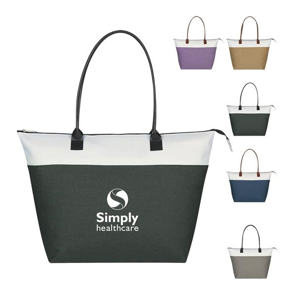 Deluxe Tote Leatherette Tote Bag