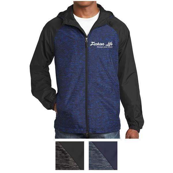 Raglan Hooded Jacket with Colorblocking