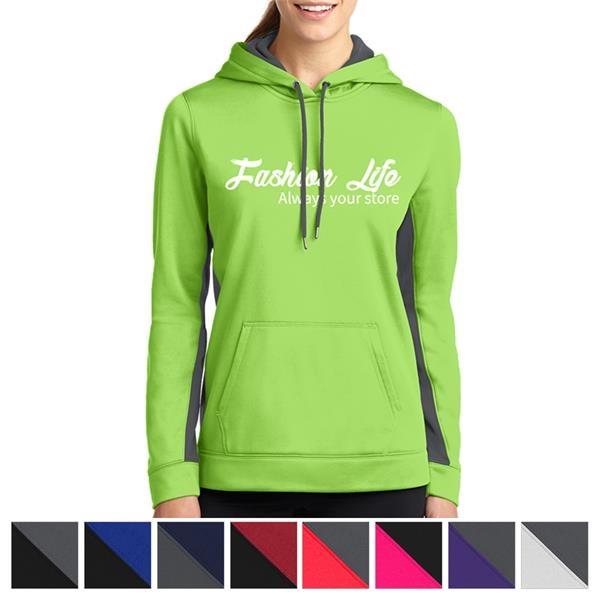 Sport-on Ladies' Colorblock Hooded Pullo