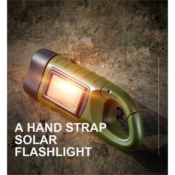 Solar Powered Hand Crank Rechargeable Survival LED Flashligh