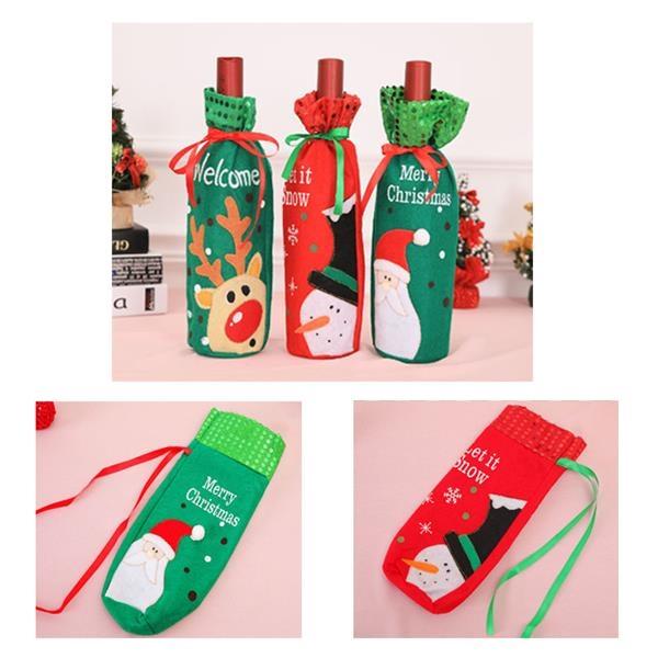 Christmas Wine Bottle Cover