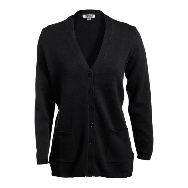 Ladies' V-Neck Long Cardigan Sweater