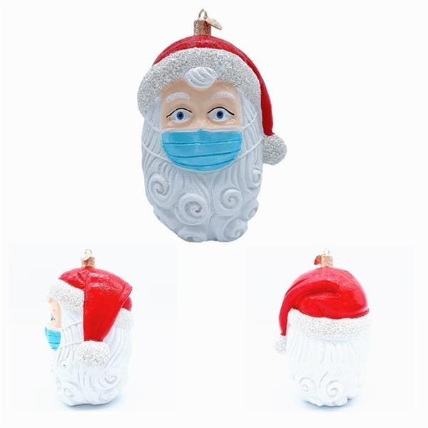 3D Christmas Tree Santa Claus with masks Pendant