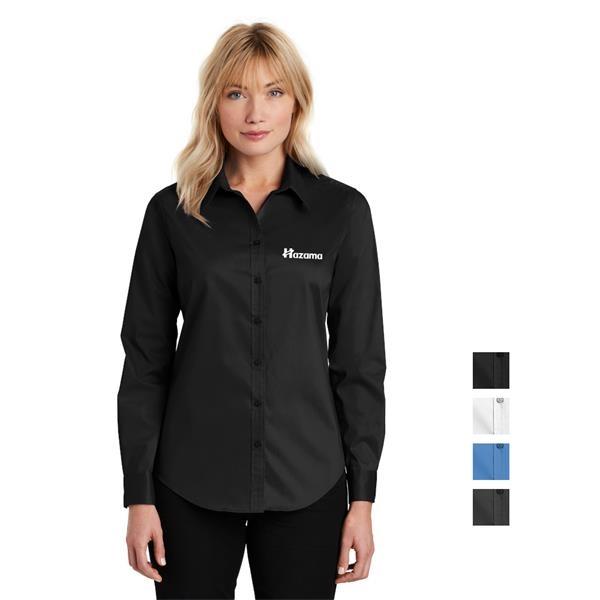 Port Authority® Ladies Stretch Poplin Shirt