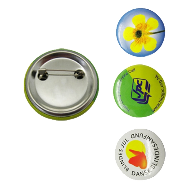 Round Button with Pin