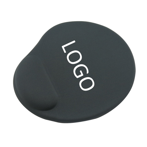 Oval Mouse Pad with Silicone Gel Wrist Rest