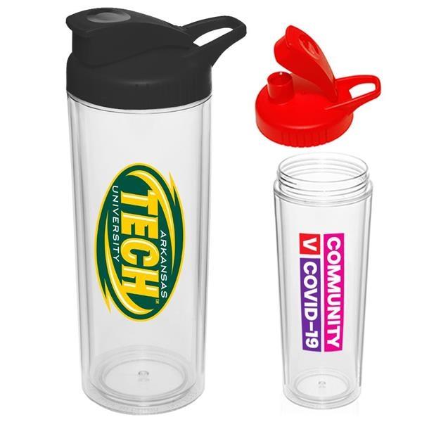 16 oz Sports Bottle w/ Custom Logo & Snap Lid Water Bottles