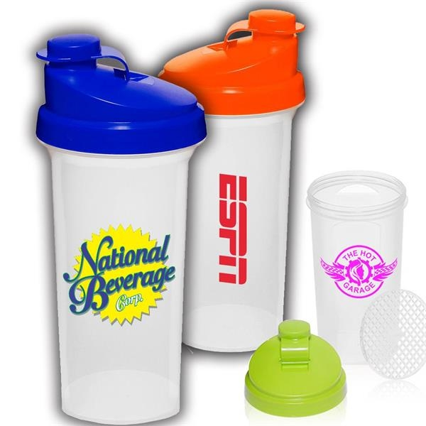 25 oz Sports Bottle w/ Custom Logo & Snap Lid Shaker Bottles