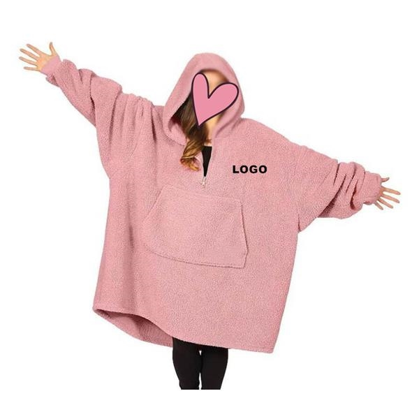Oversized Hoodie Pullover with zipper