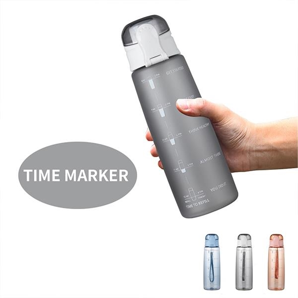 32oz timer marked tritan water bottle with string