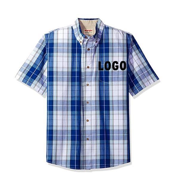 Men's Short Sleeve Classic Plaid Shirt